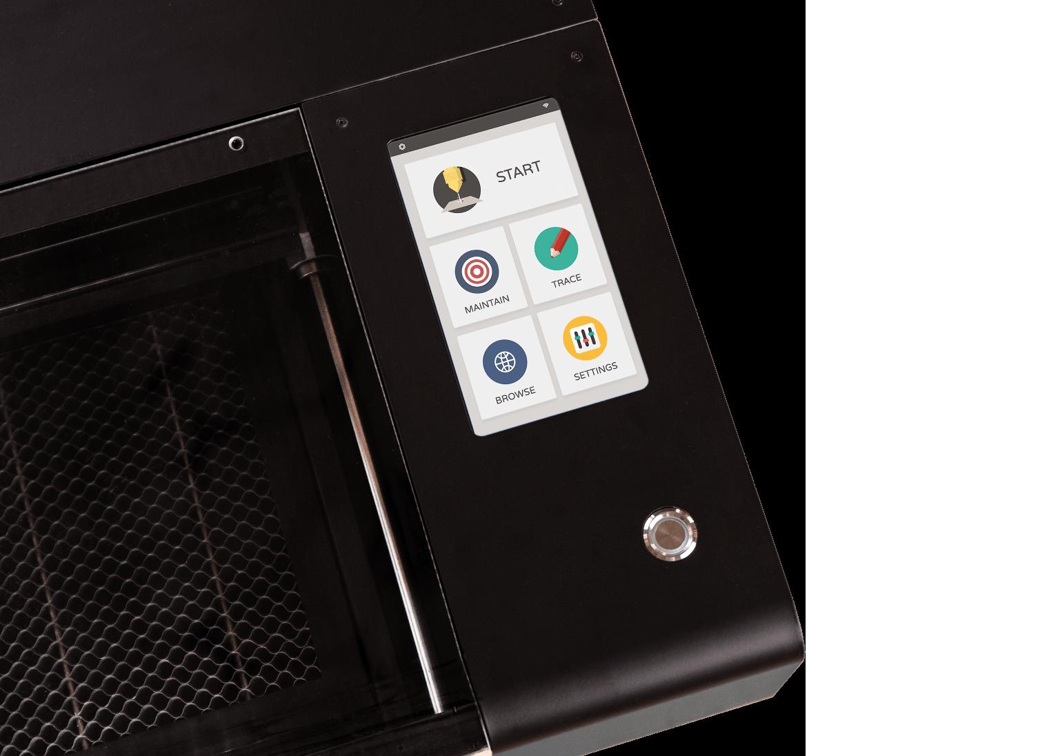 Beambox Pro touch panel